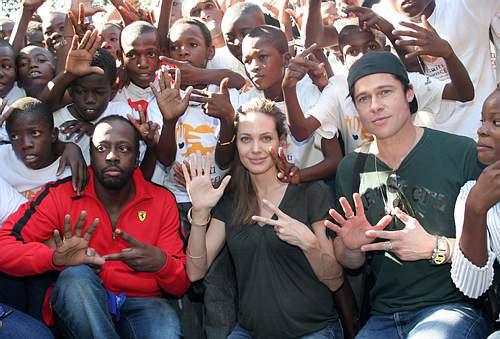 brad and angie in haiti 3 jan06
